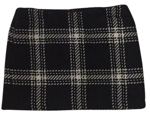 Gap Mini Skirt Black and white plaid