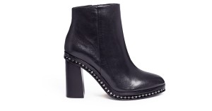 Coach Leather Ball Chain Black Boots