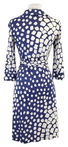 Diane von Furstenberg short dress Blue White Silk Wrap on Tradesy