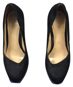 Cole Haan Black and blue Platforms
