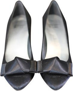 Stuart Weitzman Bow Oragami Satin Black Formal