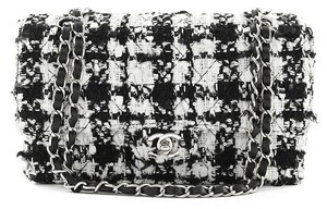 Chanel Tweed Houndstooth Flap Chain Shoulder Bag