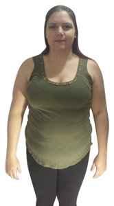 City Streets Armygreentee Large Top Green/Gold