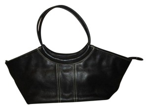 Ego Leather Tote Shoulder Satchel in black