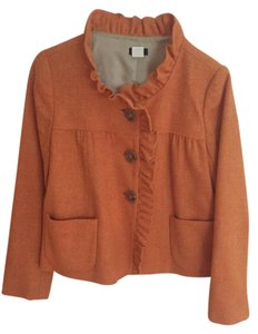 J.Crew Ruffle Orange Blazer