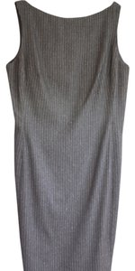 Ralph Lauren Collection Wool Pinstripe Flared Dress