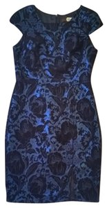 Eva Franco Brocade Metallic Anthropologie Sheath Damask Dress