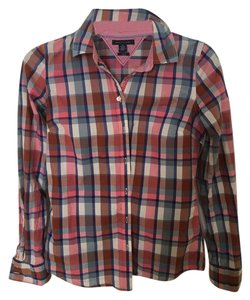 Tommy Hilfiger Button Down Shirt Pink plaid