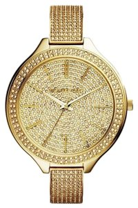 Michael Kors NEW WOMENS MICHAEL KORS (MK3256) RUNWAY GOLD PAVE GLITZ WATCH