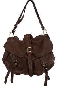 Le'Bulga Leather Dark Brown Messenger Bag