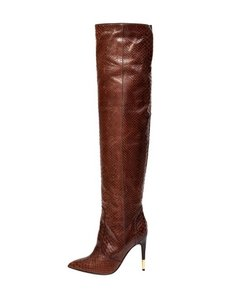Tom Ford Anaconda Snakeskin Brown Boots