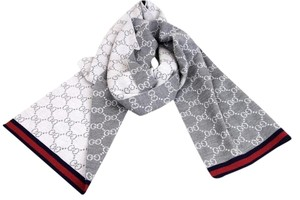 Gucci Gucci Wool Monogram Gg Scarf with webbing Design 325806 1263