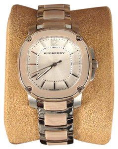 Burberry WATCH - WOMENS SILVER & TAN AUTOMATIC SWISS IN BOX BRACELET