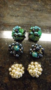Vintage Germany Earrings Nice Signed Collection of Vintage Clip On Earrings