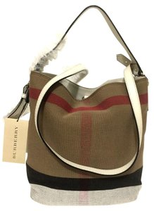 Burberry Canvas/leather Hobo Bag