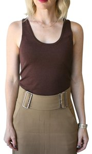 Tibi Sweater Sleeveless Top Brown