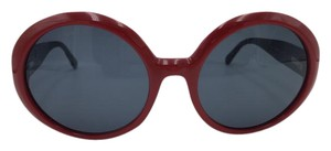 Chanel Red Round Quilting Chanel Sunglasses 5120 c.867/87 56