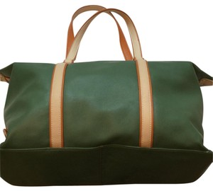 Levenger Teal With Cream Travel Bag