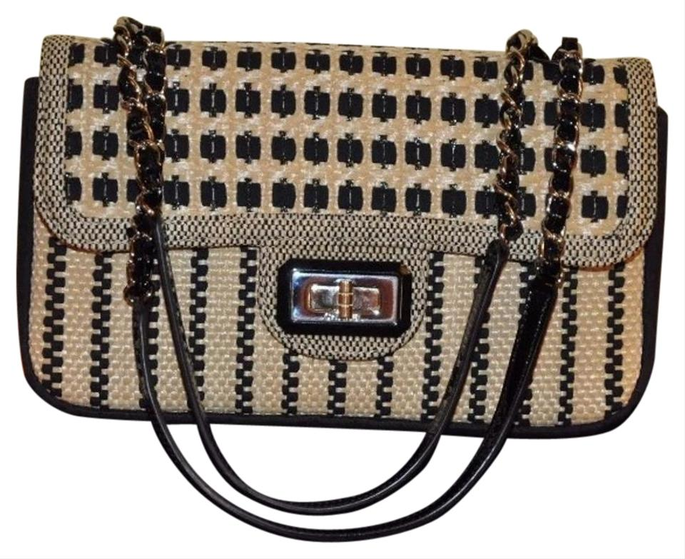 9d6cabfd309f Chanel 2.55 Reissue Cannes Medium Raffia Flap Beige/Black Wicker Shoulder  Bag