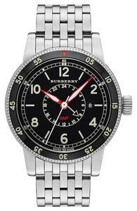 Burberry Burberry the Utilitarian BU7866 Stainless Black Dial GMT Watch
