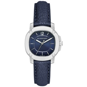 Burberry Burberry The Britain BBY1716 Navy Blue Leather Strap Dress Watch
