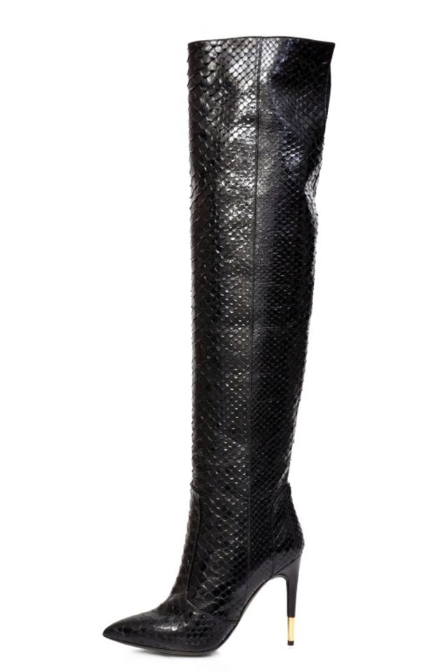 4eef8db8fdddd Tom Ford Black New Anaconda Over The Knee Boots/Booties Size US 8 ...