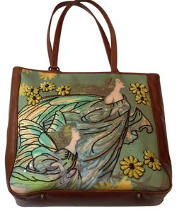 Isabella Fiore Tote in Brown And Green