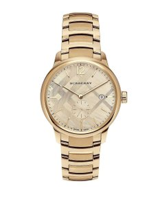 Burberry Burberry Classic Check BU10006 Gold Tone Stainless Bracelet Watch