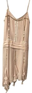 bebe Silk Pearls Gatsby Sheer Dress