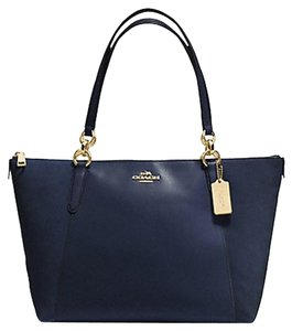 Coach Tote in midnight blue light gold tone
