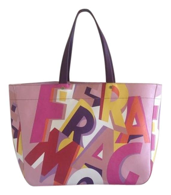 Item - Large Open Top Multicolor Leather Tote