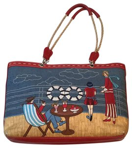 Isabella Fiore Satchel in Red And Blue