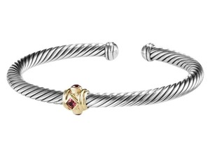 David Yurman Renaissance Bracelet with Pink Tourmaline, Rhodolite Garnet and Gold