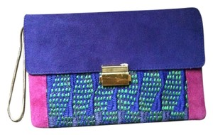 Club Monaco purple & pink Clutch