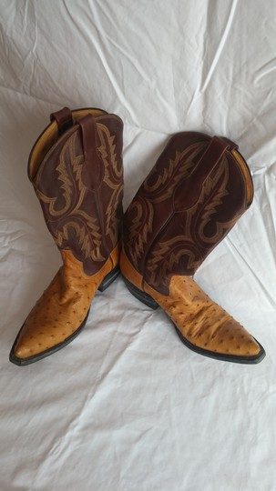 Rios of Mercedes tan ostrich and brown Boots