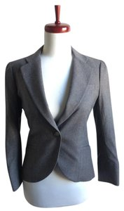 Theory Wool Jacket Suit gray Blazer
