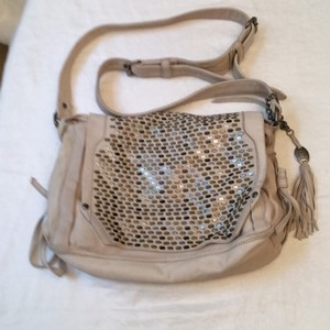 Olivia Harris Taupe Messenger Bag