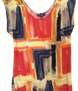 Anthropologie T Shirt Multi, red, orange, yellow, blue