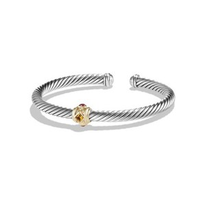 David Yurman Renaissance Bracelet with Citrine, Rhodolite Garnet and Gold