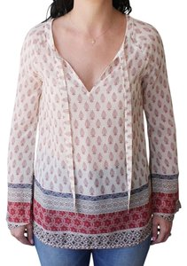Sanctuary Clothing Shirt Printed Long Sleeve Top Ivory