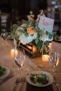 Handmade Rustic Flowerbox Centerpieces For Wedding