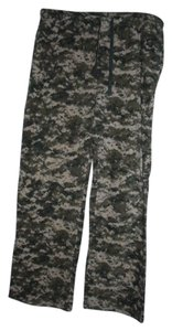 US ARMY Camo Camouflage Warm Plush Pajama Relaxed Pants Green