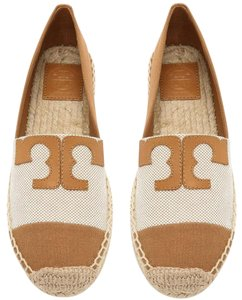 Tory Burch Ecru Tan Flats