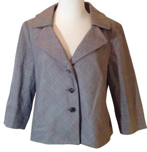 AK Anne Klein Multi plaid Blazer