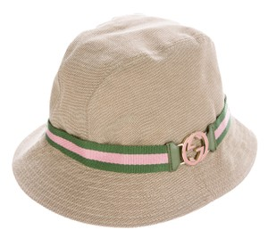 Gucci Tan canvas Gucci interlocking CC logo bucket hat