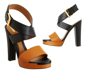 Fendi Colorblock Platform Black Sandals