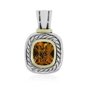 David Yurman David Yurman Two Tone Large Citrine Pendant