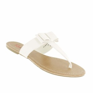 Red Circle Footwear Bow Casual Sandal Daily White Sandals