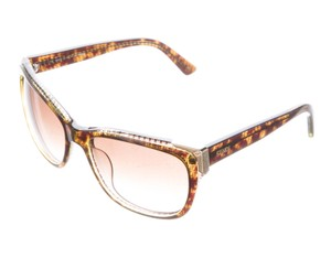 Fendi Brown acetate Fendi Zucca print wayfarer sunglasses