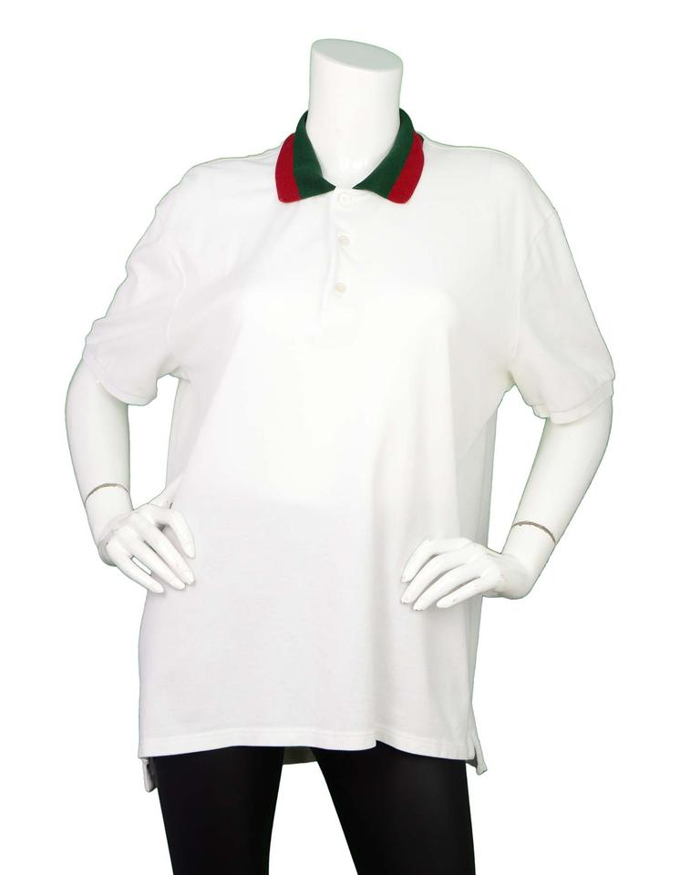 3c5c6e1a692b Gucci Men's White Polo with Web Collar Xxxl Tee Shirt Size 16 (XL ...